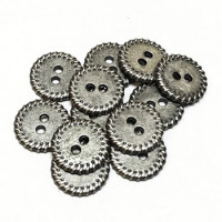 M-1235-D - Metal 2-Hole Shirt Button, Priced per Dozen