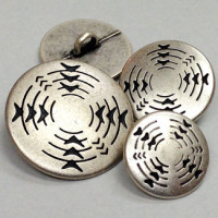 M-1236 - Southwestern Style Metal Button - in 3 Sizes