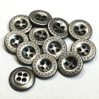 M-1261-D - 4-Hole Metal Shirt Button, Priced per Dozen