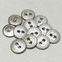 M-1265-D  Metal Shirt Button, Priced per Dozen