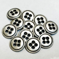 M-1273-D Metal 4-Hole Shirt Button Priced per Dozen
