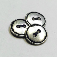M-1274-D - Metal 2-Hole Shirt Button, Priced per Dozen