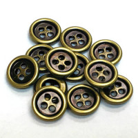 M-1284-D Metal 4-Hole Shirt Button, Priced per Dozen