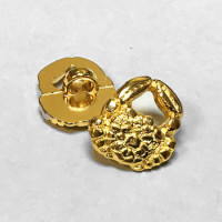 M-1315-Gold Crab Button