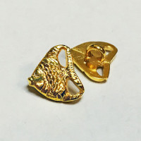 M-1316-Gold Fish Button