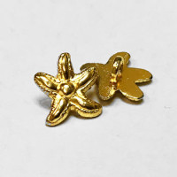 M-1317-Gold Starfish Button