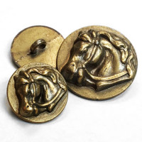 M-1430 Horsehead Metal Button - 2 Sizes