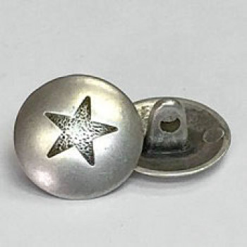 M-1440-5 Point Star Metal Button