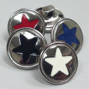 M-151 - 5-Point Star Button - 4 colors