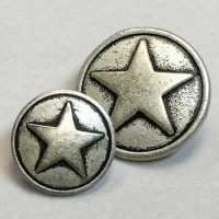 M-177C - 5-Point Star Metal Button, 2 Sizes