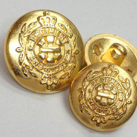 M-1802-Matte Gold Blazer Button, 2 Sizes