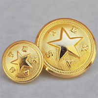 M-1920  Gold Texas State Seal Button, 2 Sizes