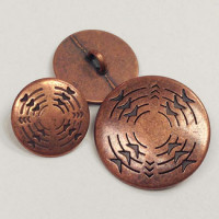 M-194-Concho Look Metal Button, 3 Sizes