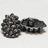 M-7684 - Metal Pine Cone Button