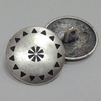M-840-Southwestern Design Metal Button