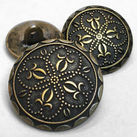 M-853 Antique Brass Metal Button - 3 Sizes