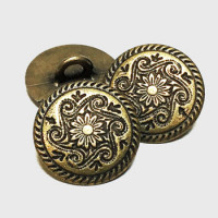 M-867-D Soutwestern Style Metal Button, Sold by the Dozen