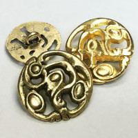 M-895-Metal Fashion Button, 4 Sizes
