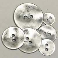 M-898-2 Hole Metal Button - 6 Sizes