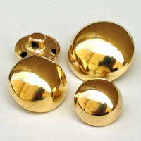 MG-7240-D Domed Gold Metal Button Price By Dozen  - 4 Sizes
