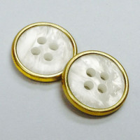 MTP-155-Gold and Pearl Pant or Sweater Button
