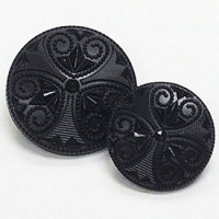 "NV-1339-Black Fashion Button, 5/8"" only"