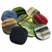 NV-1654-Squared Fashion Button, Nine Colors