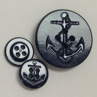 PCB-51-US Navy Pea Coat Button in Dark Navy - 2 Sizes