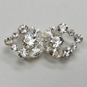 RHF-101  Rhinestone 2-piece Frog Closure