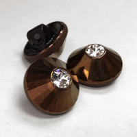 RHP-099 Swarovski and Antique Copper Button