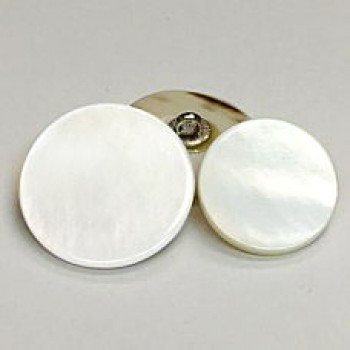 RSW-111 White Rivershell Shank  Button, 3 Sizes