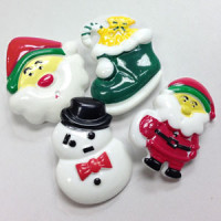 OCC-501- Set of 4 Christmas Buttons