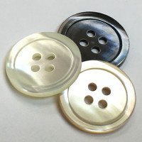 TR-17 Trocas Shell 4-Hole Button - 7 Sizes and 3 Colors