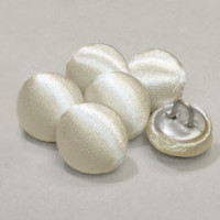 W-1034-Bridal White Satin Bridal Button, Priced by the Dozen