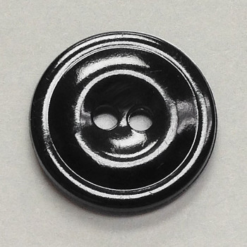 WB-1155 - Black Melamine Button, Priced by the Dozen or Gross