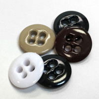 WBA-022 Melamine Fly Button - 5 Colors, Priced by the Dozen or Gross