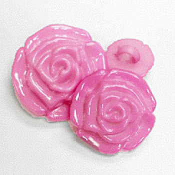 NV-5201- Pink Rose Petal Button - 4 Sizes, Sold by the Dozen