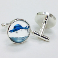 CF-150  Handpainted Glass Cufflinks
