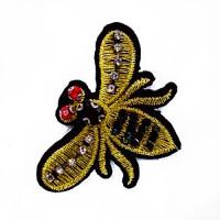 BFXU-111 - Rhinestone Bee Applique, Sold Per Piece or Set of 3