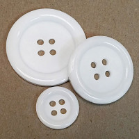 BL-500  4-Hole White Button -- 4 Sizes, Priced per Dozen