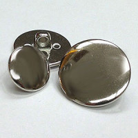 180499-Silver Blazer, Jacket, Coat Button - in 5 Sizes