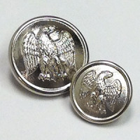 29933 Silver Blazer Button - 2 Sizes