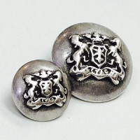 310350 Antique Silver Blazer Button - 2 Sizes