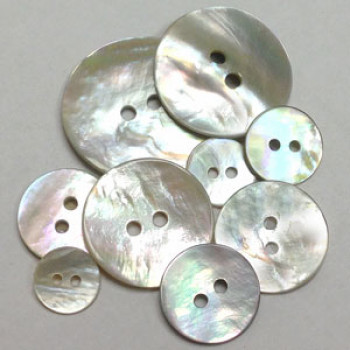 AG-110 Natural Agoya Shell Button - 10 Sizes, Sold by the Dozen
