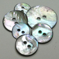 AGS-110 Smoke Agoya Shell Button - 9 Sizes, Sold by the Dozen