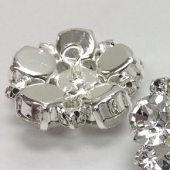 C-1348-Large Crystal Rhinestone Button