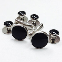 CFA-10 Basic Tuxedo Cufflinks and Studs Set