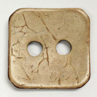 CO-1138  Square Coconut Button - Oversize Holes