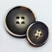 HNX-15-Weathered Faux Horn Button - 2 Sizes