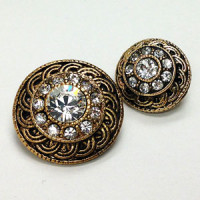 KMR-441 Antique Gold with Swarovski Stones, 2 Sizes